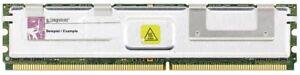2GB Kit (2x 1GB) Kingston DDR2-667 PC2-5300F 2Rx8 ECC Fb-dimm RAM KTD-WS667/2G