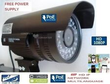 1080P 4 MP 3.6MM OUTDOOR POE IP HD IR 36 SIZE 8 LEDS Security NETWORK Camera mtl