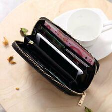 New Womens Long Cute Cat Large Capacity Purse Zipper Wallet Purse Handbag Black