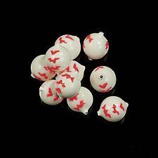 Corky-Floures Weiß/Rot 12mm 5 Stück