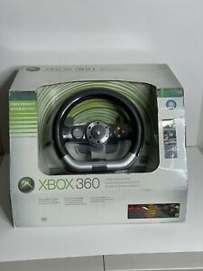 Microsoft Xbox 360 Wireless Racing Force Feedback Steering Wheel & Pedals