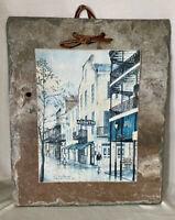 Vieux Carre Historic New Orleans Roofing Slate Tile Absinthe Bar Bourbon Street