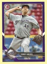 2018 Bowman Baseball Corey Knebel Purple Paper Milwaukee Brewers 165/250
