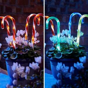 Christmas Candy Cane Pathway Lights LED Outdoor Garden Xmas Decoration