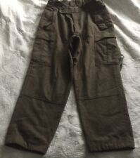 WWII ARMY UNIFORM PANTS GREEN 100% WOOL BUTTON FLY 30 X 39 SNAPS ON LEG BOTTOM