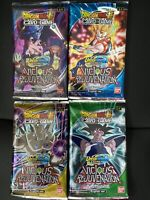 Dragon ball super packs Variant Arts (x4) Vicious Rejuvenation Sealed And New