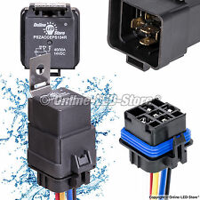 OLS 12V 40/30A SPDT Waterproof Relay Switch Harness Set (5-Pin 12 AWG Hot Wires)