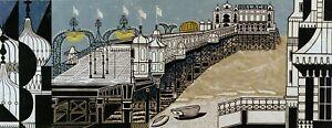 Brighton Pier Edward Bawden print in 11 x 14 mount ready to frame SUPERB