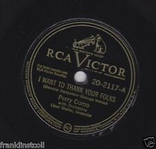 Perry Como on 78 rpm RCA Victor 20-2117: I Want to Thank Your Folks/That's Where