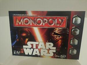 Hasbro Monopoly Disney Star Wars Gesellschaftsspiel 8+ Zustand wie Neu