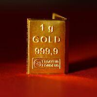 1 Gramm Goldbarren 999,9 Feingold ESG Tafelbarren 1g Gold Barren Geschenk 2019