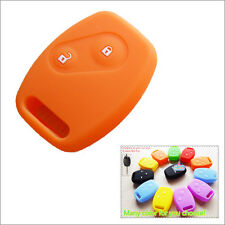 Car key silicone shell cover case Honda Accord Civic Fit CRV Odyssey CITY Orange