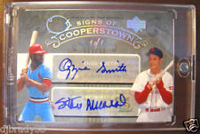 Stan Musial Ozzie Smith 2005 Upper Deck Hall Of Fame  Autographed  1/1