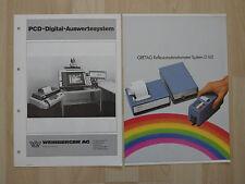 2 x Prospekt von GRETAG und WEINBERGER AG Digital Auswertsystem um 1990 ( 2696
