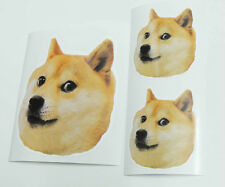 3 x Doge Stickers Decals 10 & 5cm Meme Awesome Such Wow Shibe Shiba Dog Funny