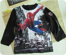 H&M Brand high qaulity Boy's Long sleeve Spider man T-shirt Tops size 3/4 NEW