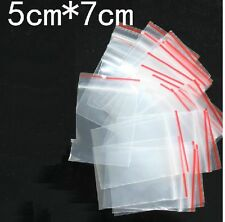 100Pcs Clear PE Plastic Self Adhesive Seal Resealable Bags 5x7cm
