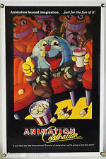 ANIMATION CELEBRATION ROLLED ORIG 1SH MOVIE POSTER RAPHAEL LOPEZ (1987)