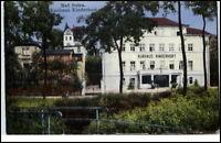 Bad Sulza Thüringen Postkarte 1932 gelaufen Partie am Kurhaus Kinderhort