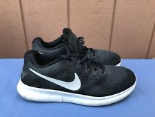 Women's Nike Free RN Women's Size US 8 880840-003 Black Lace-up Running Shoes A4
