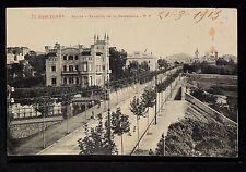 2803.-BARCELONA -73 Sarria - Avenida de la Bonanova.(Enviada a B.Aires en 1913)
