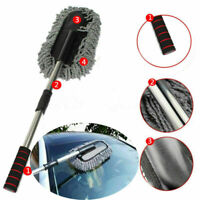 Telescoping Home Auto Car Wash Cleaning Brush Duster Dust Wax Mop Dusting Tool