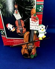 """1992 Enesco Ornament """"Festive Fiddlers"""" First issue in the Music Lovers Series"""