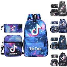 Kid Boys Girls Tik Tok 3Pcs Bag Set Backpack School Bag+Pencil Case+Shoulder Bag