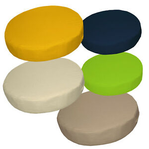 "2""Thick-Round Box Shape Cover*A-Grade Cotton Canvas Chair Seat Cushion Case*La1"