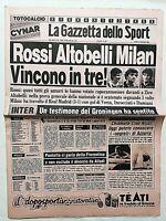 GAZZETTA DELLO SPORT 14-11-1983 MILAN-REAL MADRID 3-1 INCOCCIATI PAOLO ROSSI