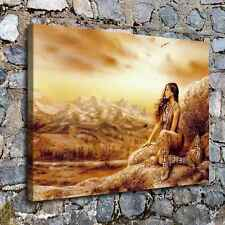"""Indian Woman Home Decor HD Canvas prints Picture Room Wall art Painting 16""""x22"""""""