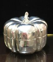 Mexican Plata Villa Sterling Silver Pumpkin Trinket Box