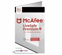 McAfee LiveSafe PREMIUM + 2020, Unlimited Devices, 1 Year - RETAIL CARD