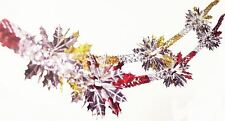 2 x Christmas Holly Leaf Foil Garland 2.7m Xmas Party  Decorations