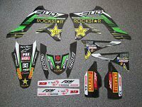 Kawasaki Bud Racing Rockstar Graphics Kit for KXF250 13-14