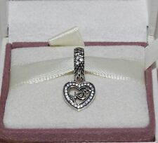 AUTHENTIC PANDORA CHARM Mum silver dangle, 791521CZ    #109