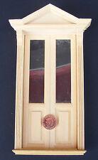 1:12 DOPPIA IN LEGNO PORTA Vittoriano Casa Bambole Miniatura Accessorio FAI DA TE 070