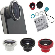 Magnetic Wide 180°Detachable Fish Eye Lens for CellPhone iPhone 4 4G 4S Silver