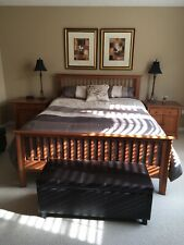 Beautiful solid wood high end bedroom suite. New mattress included. $5000 value