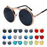 Vintage Retro Flip-up Lens Steampunk Sunglasses John Lennon Round Eye Glasses