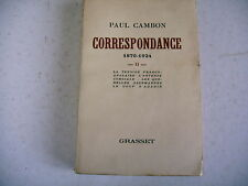 P. Cambon 1870 - 1924 tension franco anglaise entente cordiale coup d' agadir