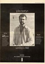 John Martyn 1975 Sundays Child UK tour/advert MM-SDWT