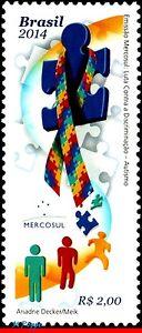 3267 Brazil 2014 COMBATING DISCRIMINATION, AUTISM, MERCOSUR, HEALTH, C-3332 MNH
