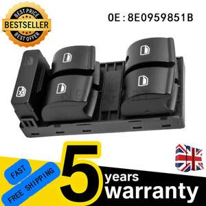 8E0959851B FOR AUDI A4 B6 B7 DRIVER SIDE ELECTRIC POWER WINDOW CONTROL SWITCH UK