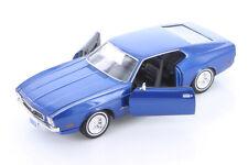 1971 Ford Mustang Sportsroof Blue 1:24 Diecast Car Motormax 73327