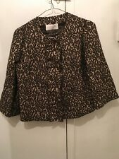 VALENTINO ROMA BROWN / GLITTER TOP BLOUSE SZ. 46 / 10