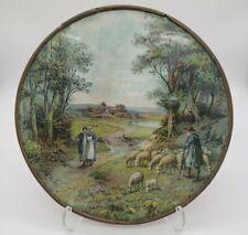 Antique Flue Cover ~Farm Scene Shepherd ~ 1910