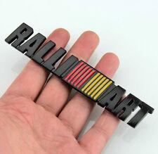 3D Auto RALLI ART Aufkleber Emblem Metall Schriftzug kleber Fenders für Schwarz