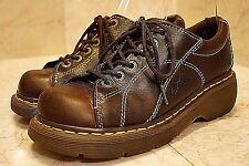 Dr Doc Martens 12283 Brown Leather Floral Lace Up Oxfords Womens US 7 EU 38 VGUC