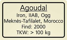 Meteorite label Agoudal